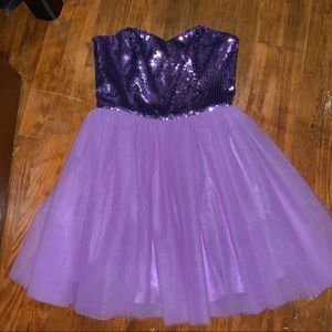 Betsey Johnson Purple homecoming dress